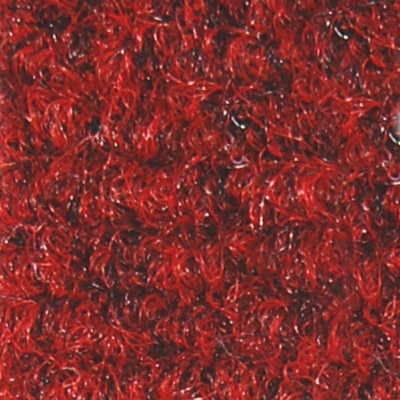 Red brush matting