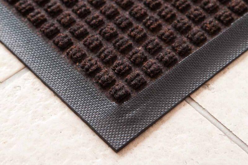 Absorbent Door Mat Charcoal Black