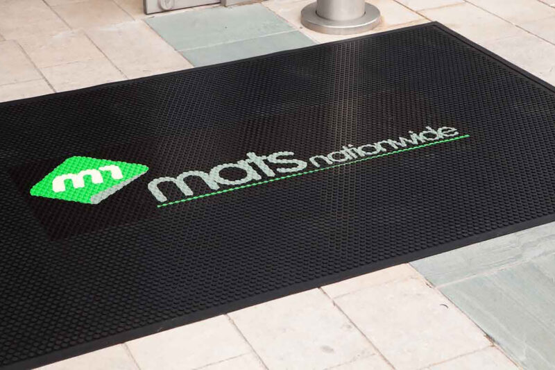 Rubber Outdoor Scraper Logo Mats