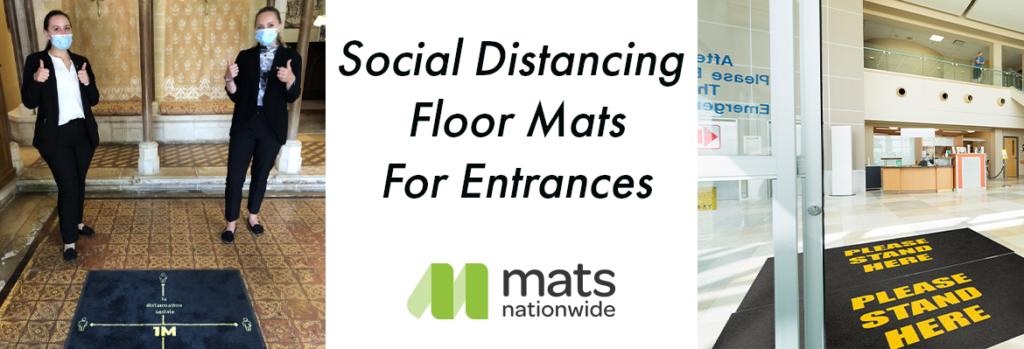 Social Distancing Floor Mats for Entrances